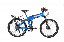 X-treme Baja electric bike metallic blue