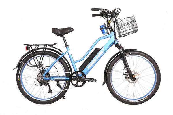 x-treme catalina 48 volt electric bike blue