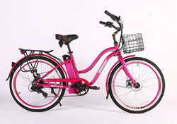 malibu elite max 36 volt electric bike pink