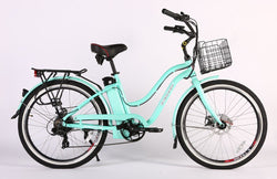 X-treme malibu elite max 36 volt electric bike teal or green