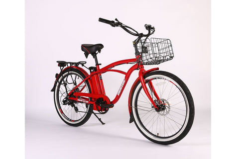 xtreme newport elite max 36 volt electric bike in red