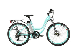 x-treme trail climber 24 volt electric bike mint green