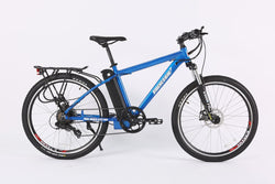 x-treme trail maker elite 36 volt electric bike blue