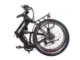 xcursion elite max 36 volt electric bike folded