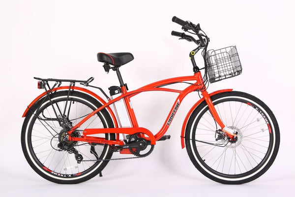 x-treme newport elite electric bicycle in red