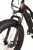fat tire electric bike front shocks rocky road by xtreme ebikes