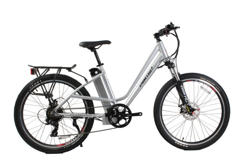 xtreme trail climber elite max 36 volt electric bike color aluminum
