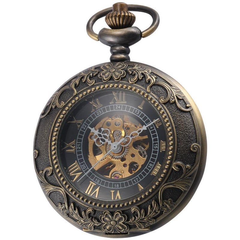 MadBurner Black and Gold Pocket Watch