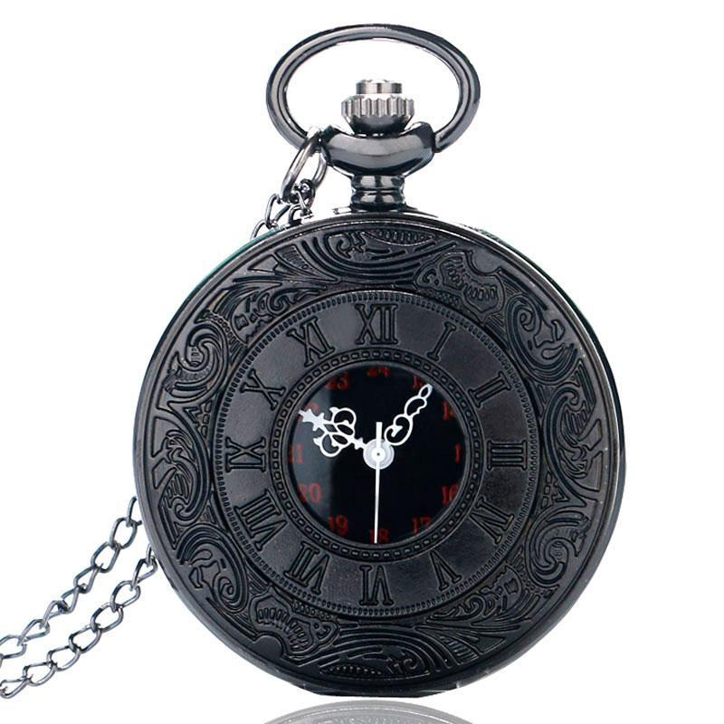 MadBurner Black, Red and Silver Pocket Watch
