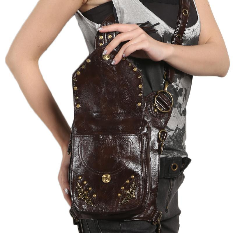 MadBurner Brown Leather Hip Bag
