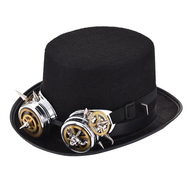 MadBurner Fedora with Silver Goggles