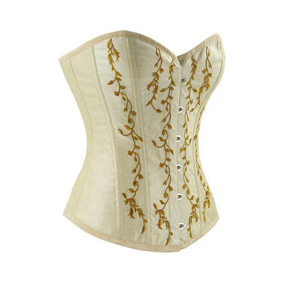 MadBurner Ivory and Gold Corset