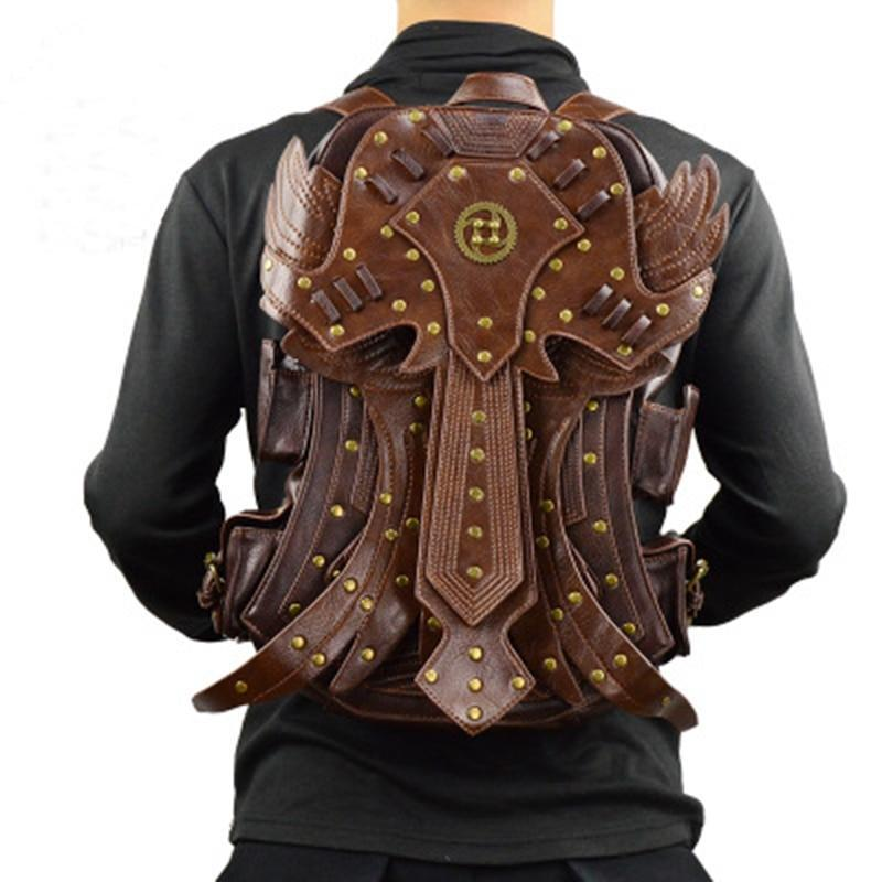 MadBurner Large Brown Leather Backpack