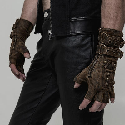 MadBurner Leather Motorcycle Gloves