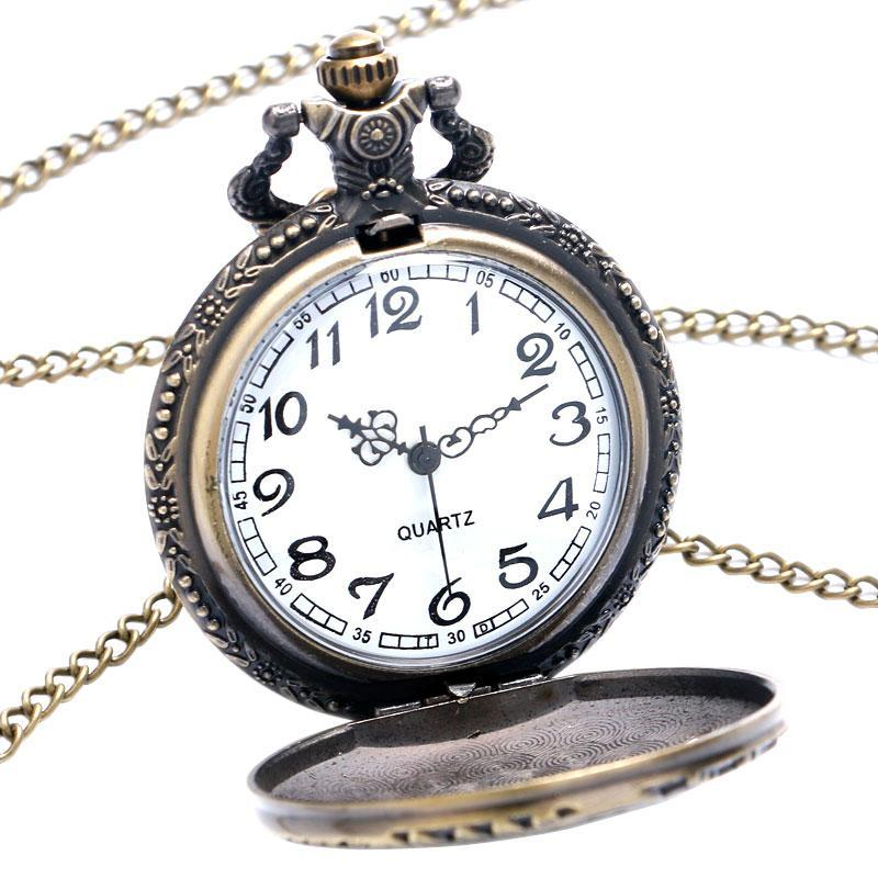 MadBurner Locomotive Steampunk Pocket Watch