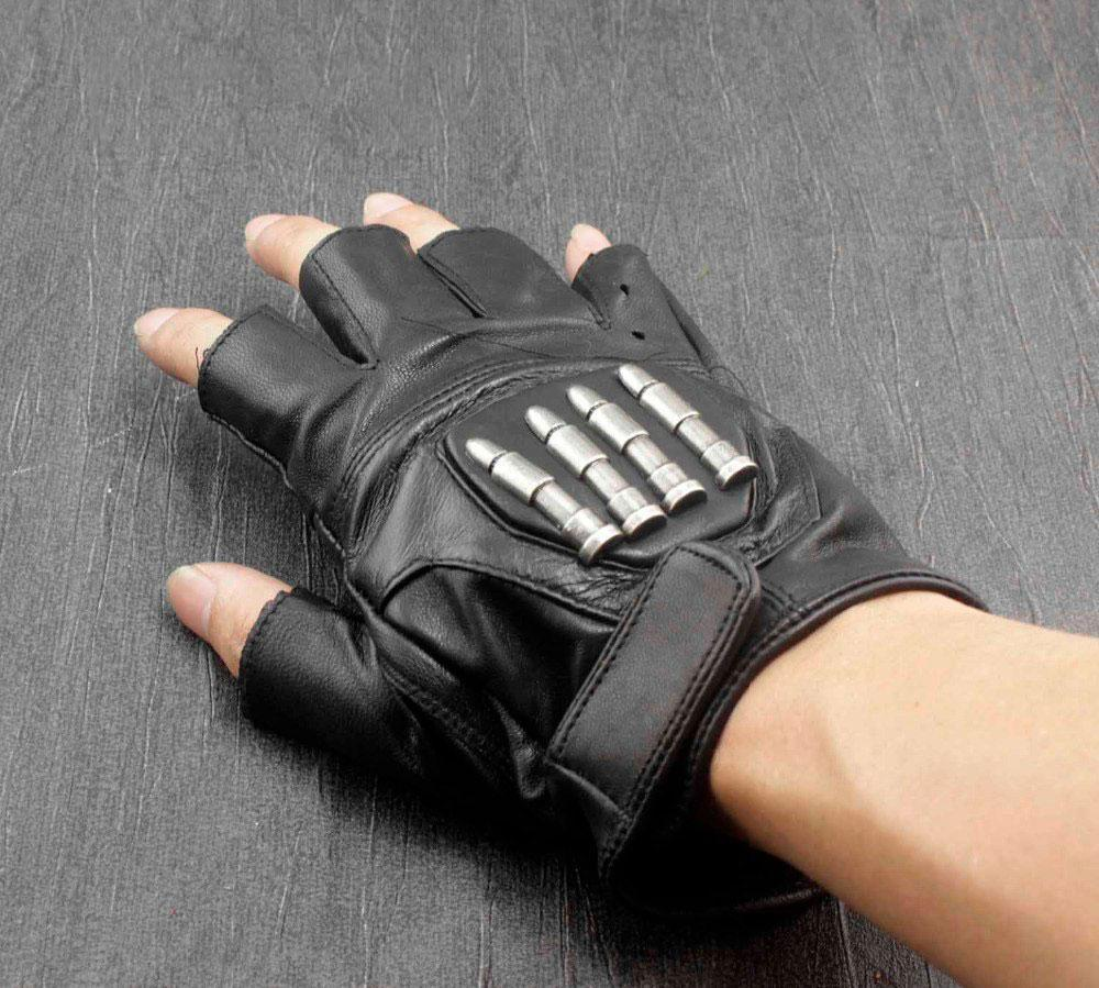 MadBurner Men's Fingerless Bullet Gloves
