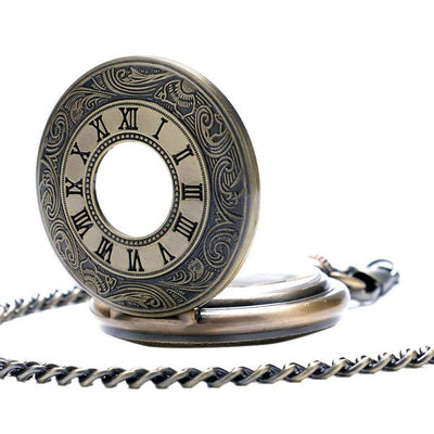 MadBurner Molten Gold Steampunk Pocket Watch