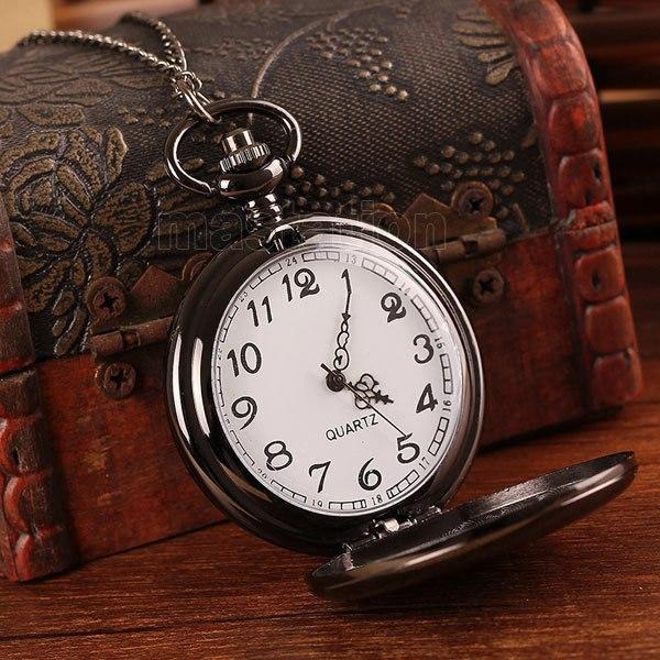 MadBurner Pure Black Pocket Watch