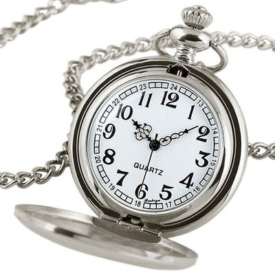 MadBurner Pure Silver Pocket Watch