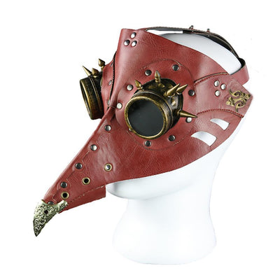 MadBurner Red Spiked Bird Mask