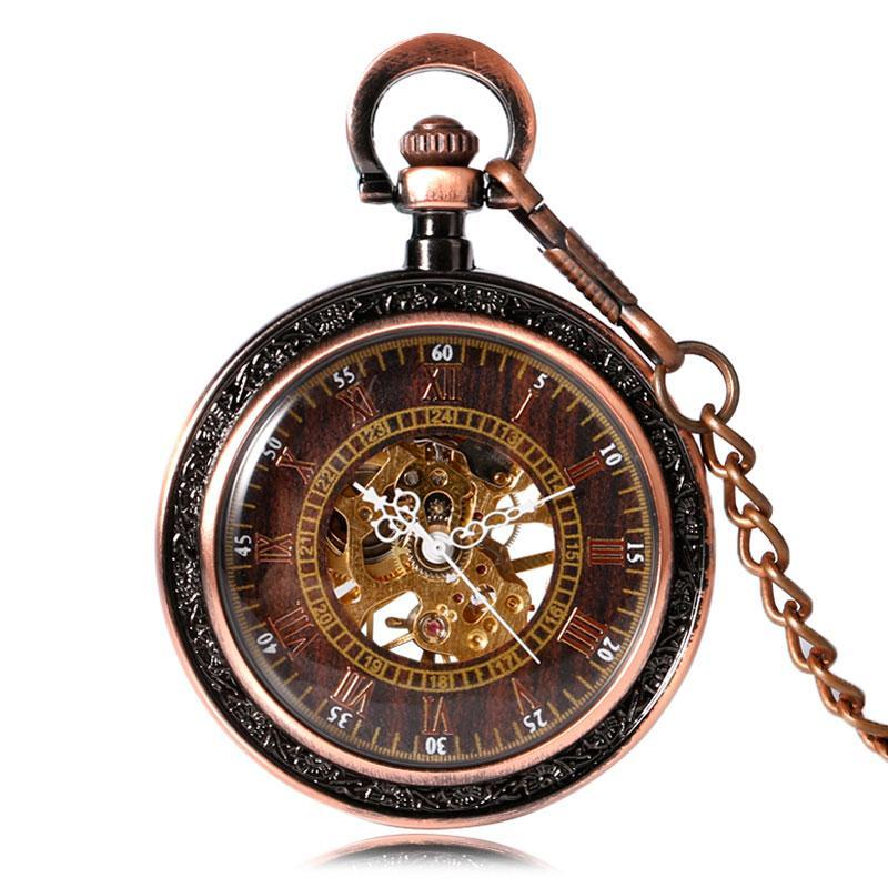 MadBurner Rose Gold Steampunk Pocket Watch