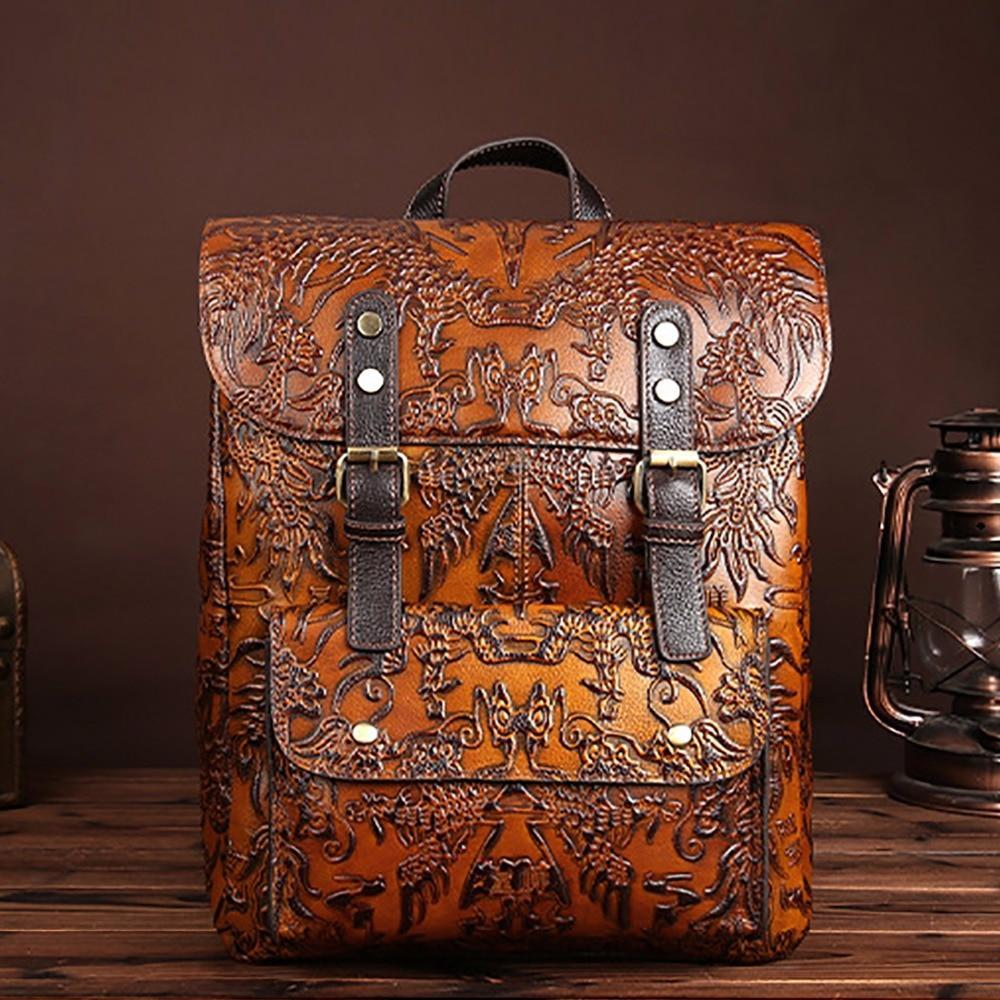 MadBurner Vintage Embossed Backpack