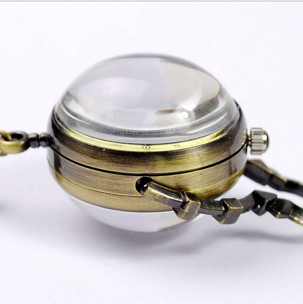 Victorian Steampunk Fashion Mad Burner Women Sphere Necklace Watch