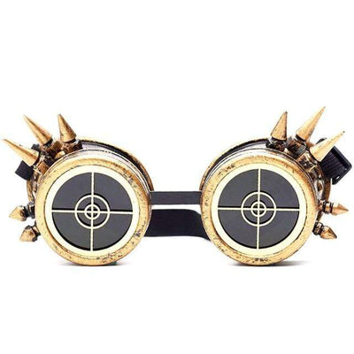 Victorian Steampunk Fashion MadBurner Bullseye Steampunk Glasses