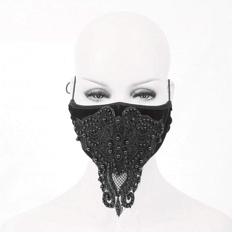 Embroidered Black Face Mask