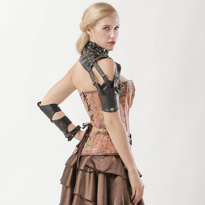 Victorian Steampunk Fashion MadBurner Leather Shoulder Strap