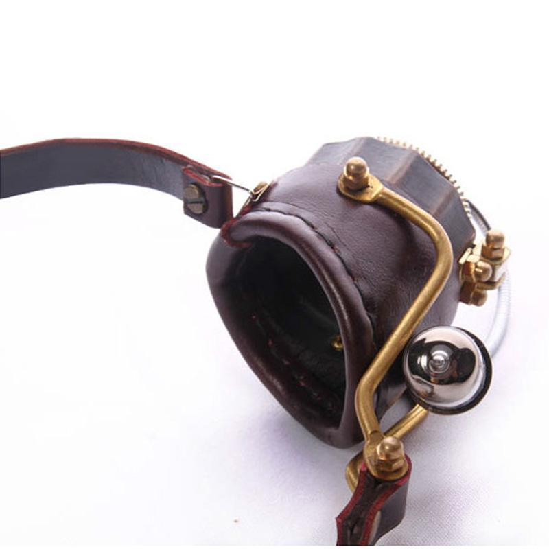Victorian Steampunk Fashion MadBurner One Eye Goggles with Lamp