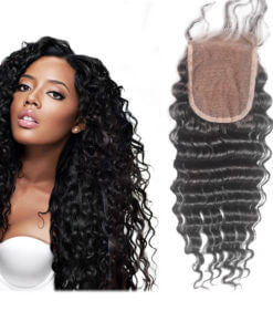 100% Virgin Deep Curl Lace Closure
