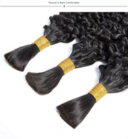Bulk Human Hair for Braiding Hair Deep Wave