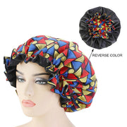 African  Print Bonnet  Night sleeping Cape