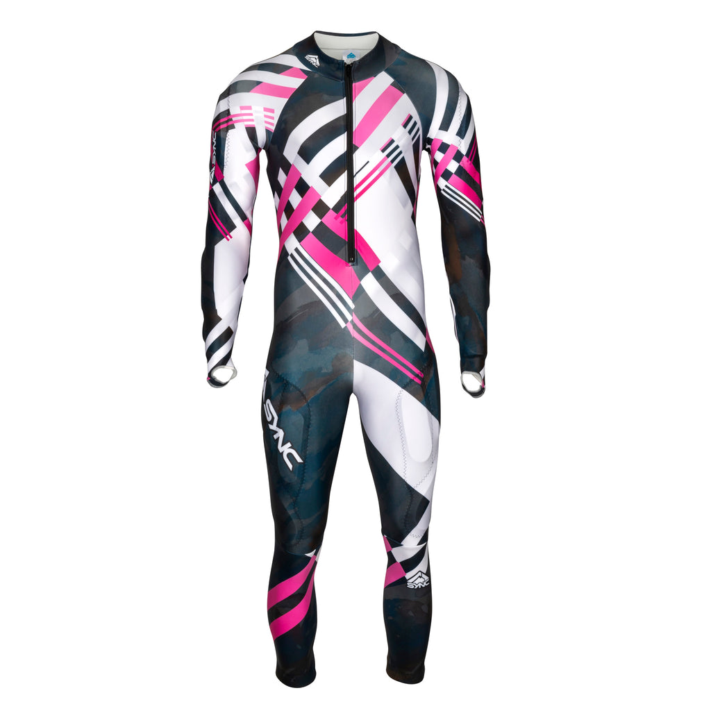 Berit-Adult-Ski-Race-Suit-Black-Pink-Front
