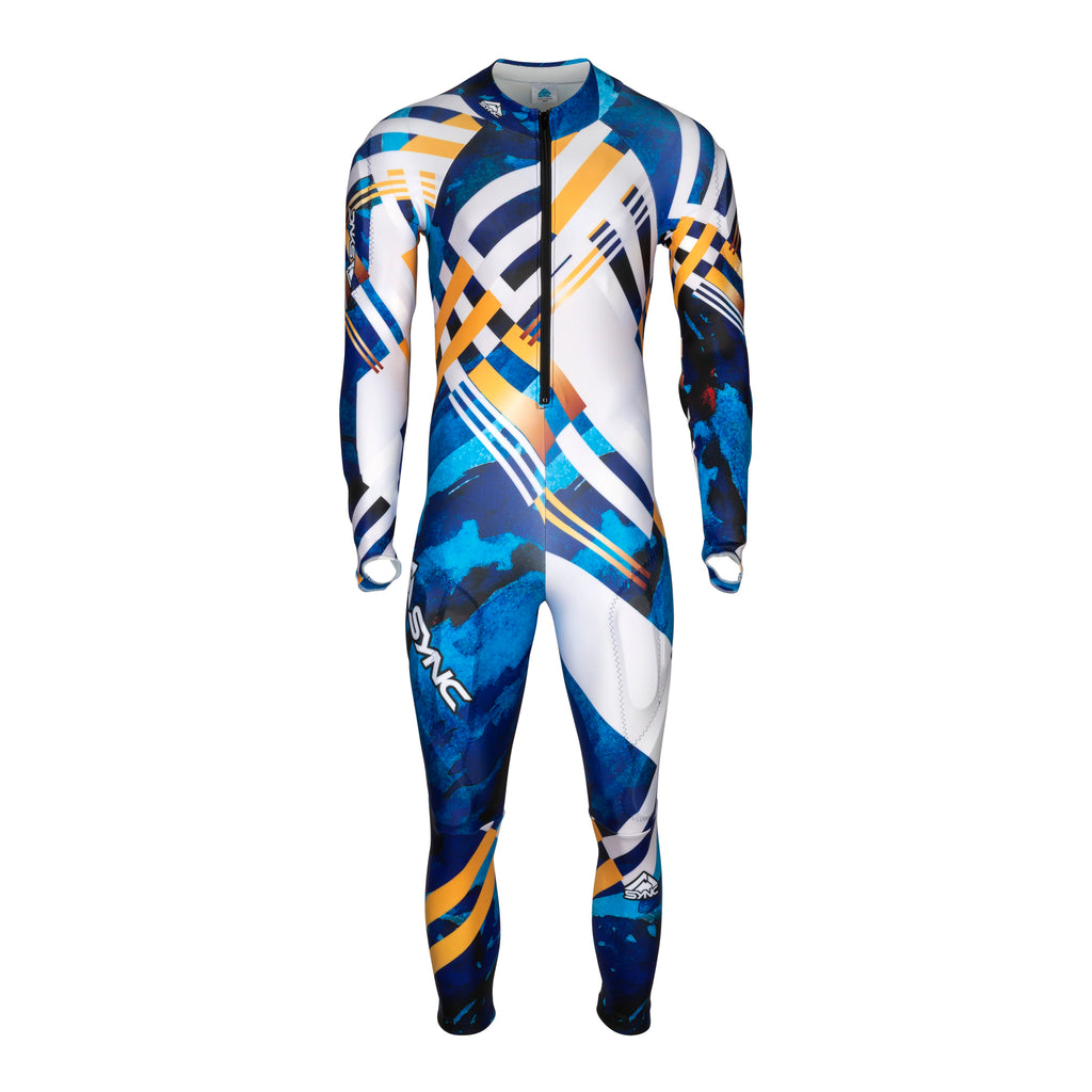 Berit-Kids-Ski-Race-Suit-Blue-Front