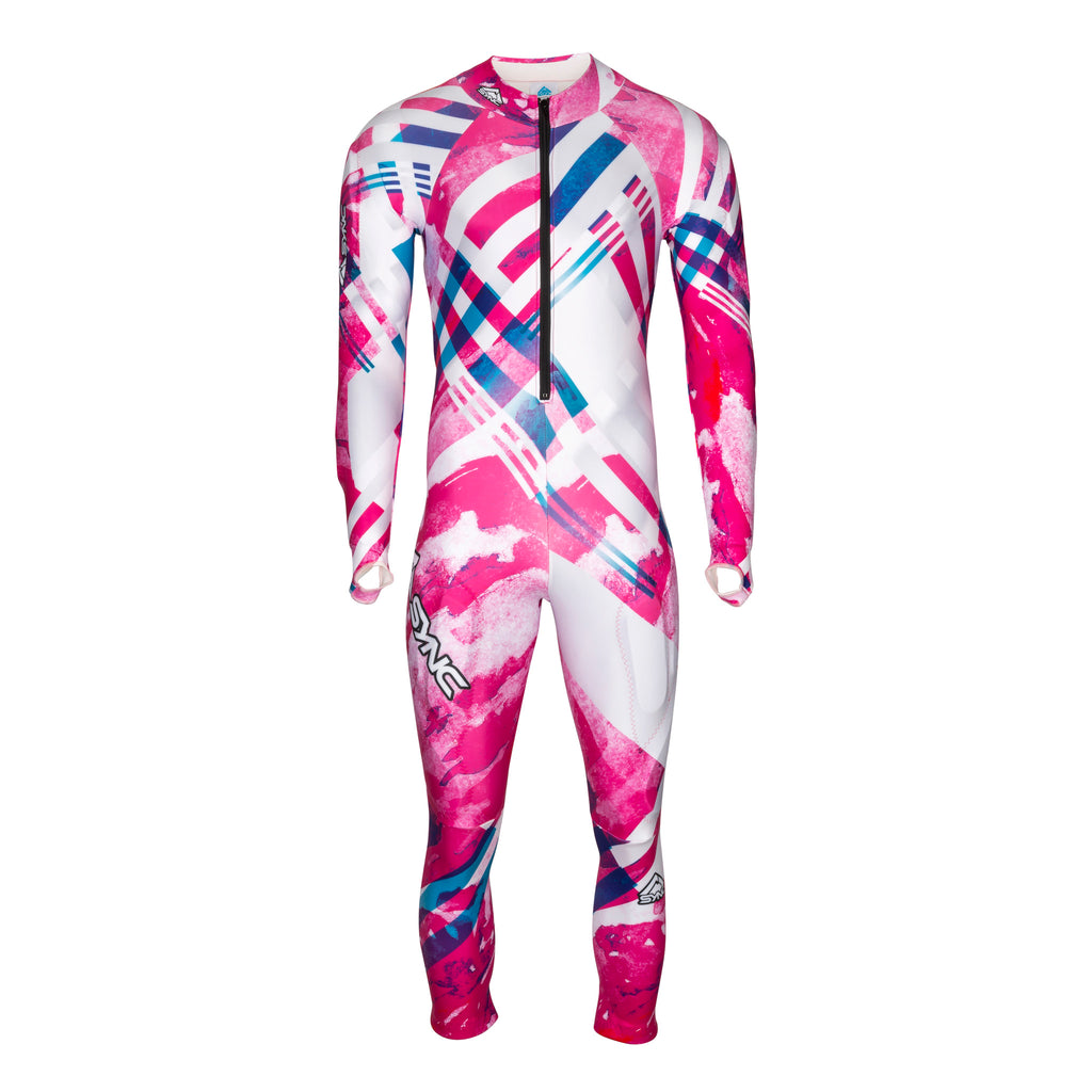 Berit-Adult-Ski-Race-Suit-Pink-Front