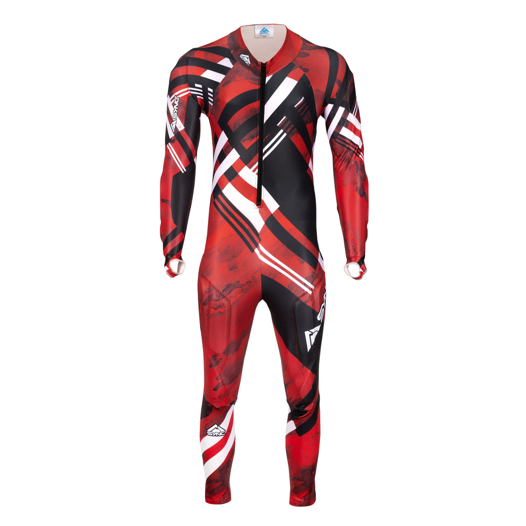 Berit-Kids-Ski-Race-Suit-Red-Front