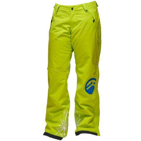 sync-women's-zip-off-prevail-insulated-ski-pants-lime-blue