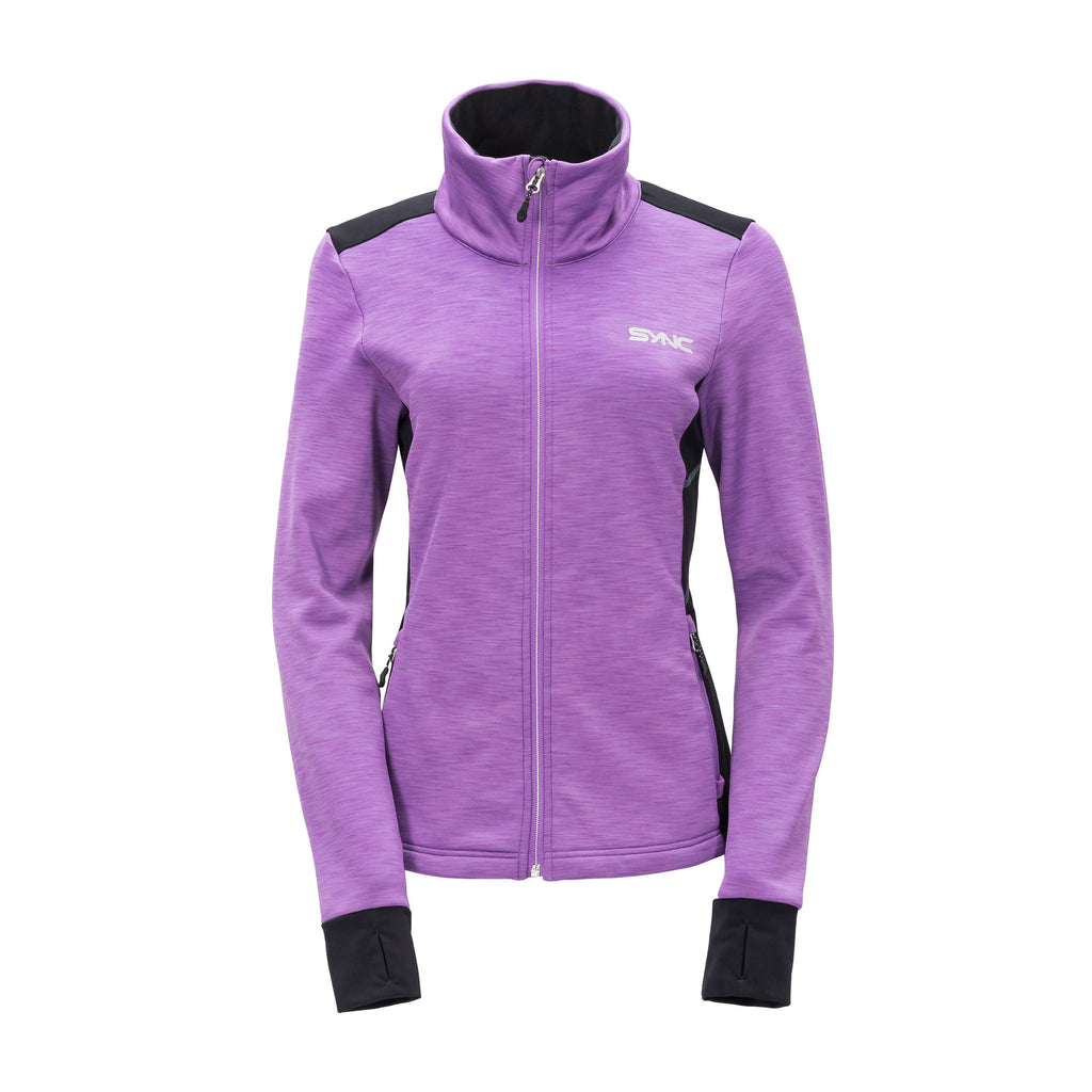 sync-performance-purple-womens-training-jacket-fleece-front