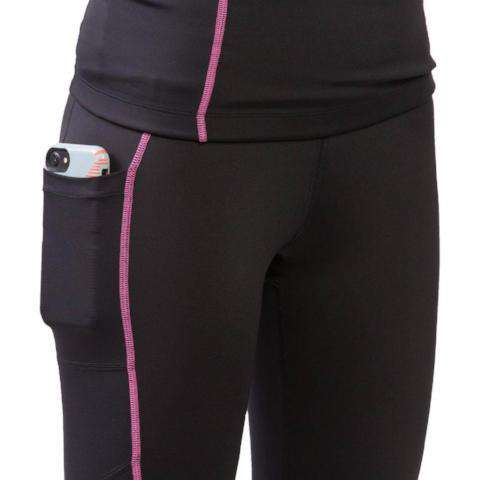 sync-performance-skadi-compression-3/4-pants-black-pink-pockets-side-with-phone