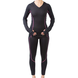 sync-performance-women's-skadi-compression-shirt-black-pink-model
