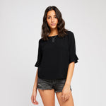 Raenne Ruffle Sleeve Top
