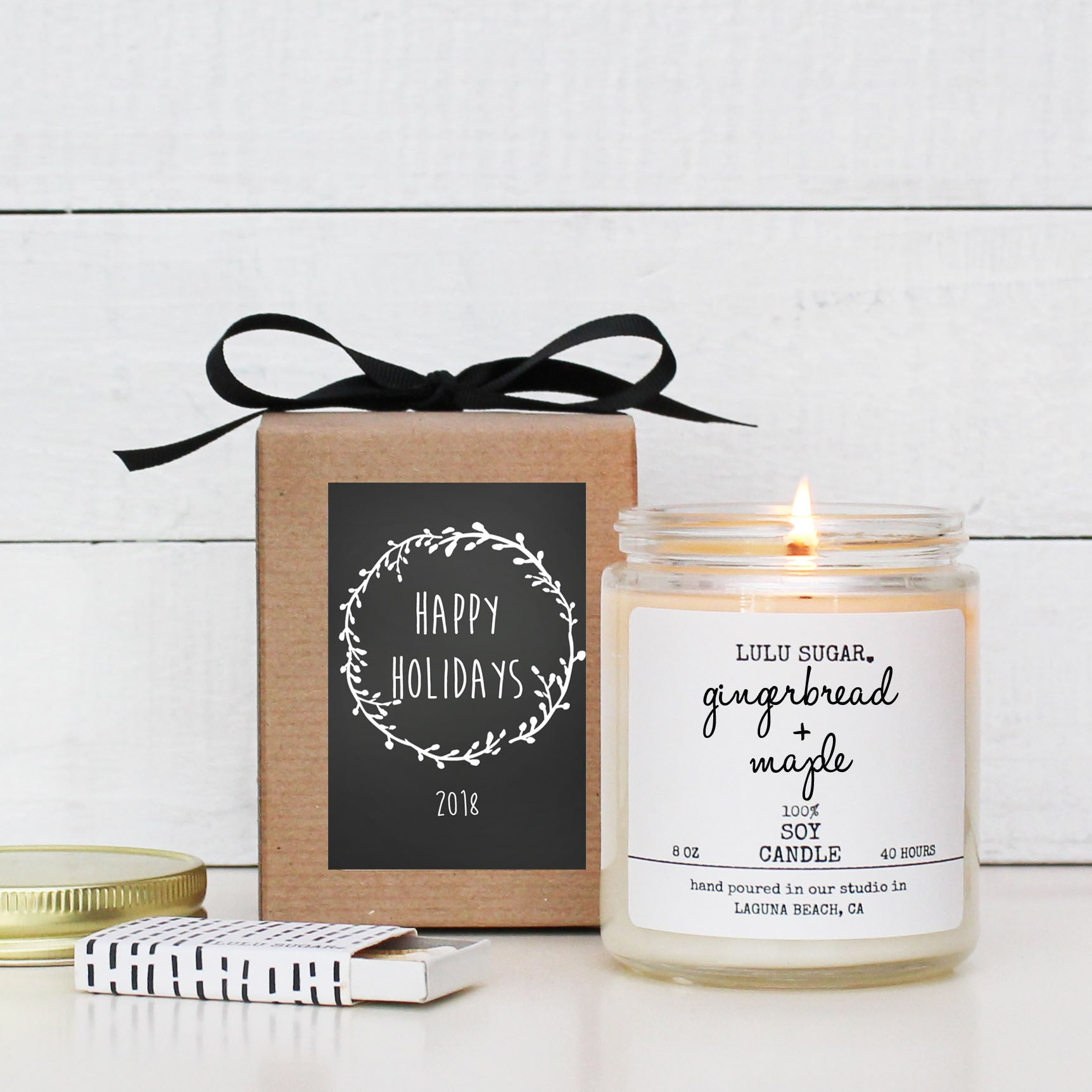 Happy Holidays Gift Candle