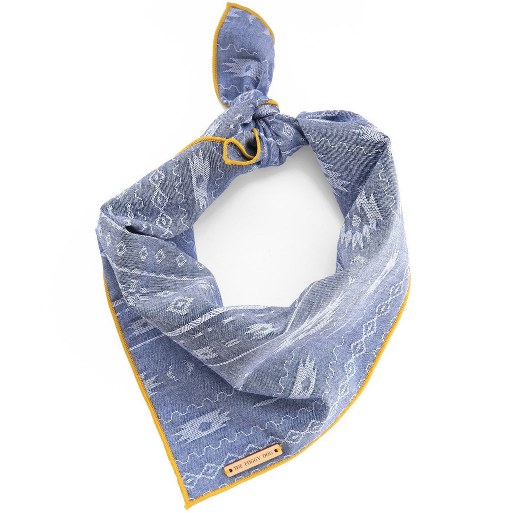 Aztec Chambray Dog Bandana
