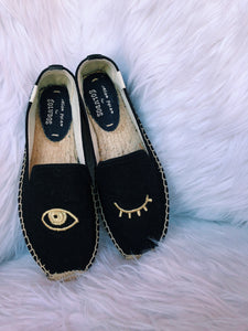Wink Embroidered Slipper