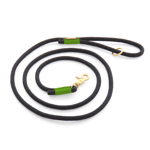 The Foggy Dog - Black and Green Climbing Rope Dog Leash
