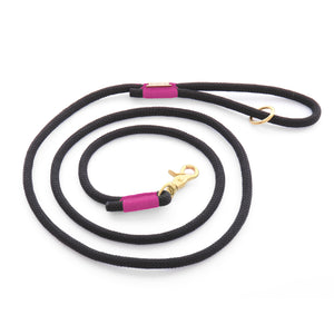 The Foggy Dog - Black and Purple Climbing Rope Dog Leash