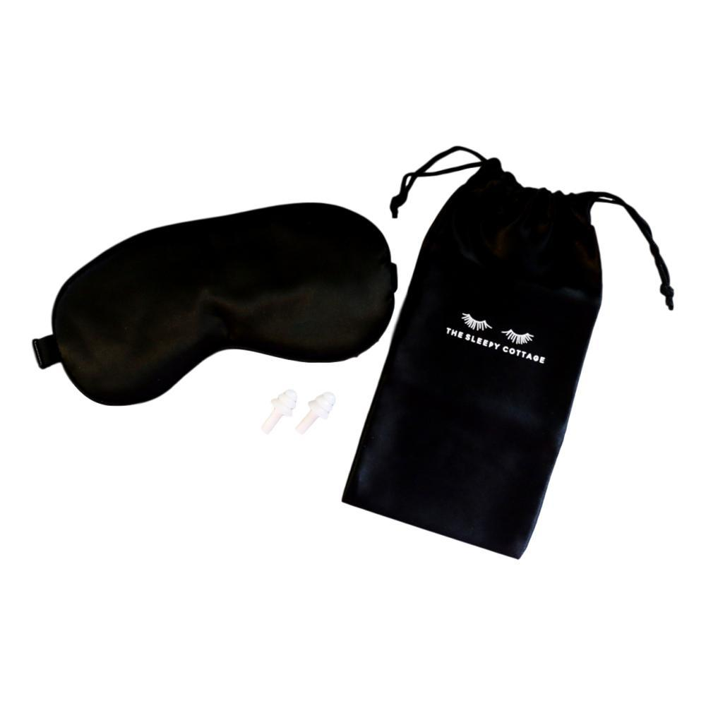 Black Silk Sleep Mask Set