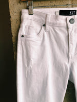 Amy Crop Straight Leg - Optic White